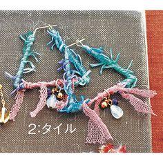 AVRIL(アヴリル)の糸がかなえた、とびきりのかわいさ。 糸の魔法でときめく アヴリルの糸とチェコビーズで作る乙女ピアス