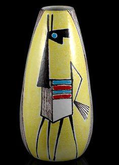 Italian ceramic Lama Vase - Fratelli Fanciullacci