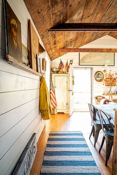 Sea Roost: A Cozy Seaside Getaway — The Maryn Seaside Getaway, Beach Houses For Rent, Rattan Lamp, Good Neighbor, River House, Ship Lap Walls, Beach Cottages, Stone Cottages, Large Windows