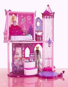 BARBIE PINK FASHION FAIRYTALE PALACE HOUSE PLAYSET ELEVATOR 20 Pieces NEW NRFB