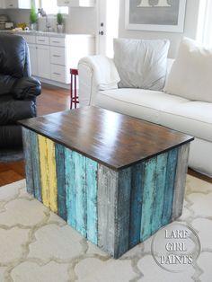 Lake Girl Paints: Beach Box Coffee Table
