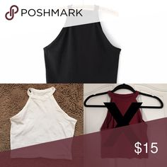 halter bundle great for summer // black & white available // white is a little sheer // cropped // not brandy Brandy Melville Tops Crop Tops