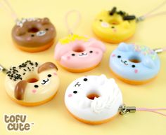 Buy Kawaii Animal Doughnut Phone Charm at Tofu Cute