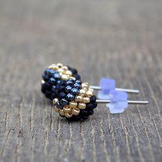 Beaded Earrings, Stud Earrings, Ear Rings, Brick Stitch, Seed Beads, Balls, Beading, Bb, Jewelry