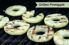 Grilled Pineapple Recipe. So easy to make a tasty, unique side dish for summer! www.PandorasDeals.com