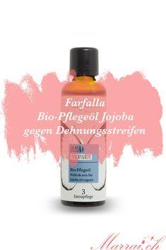 Das kaltgepresste Jojobaöl von Farfalla ist 100% natürlich & aus biologischem Anbau. Es riecht dezent nussig & ist sehr angenehm auf der Haut. Aber auch im Gesicht & für die Kopfhaut habe ich es oft benutzt. Mehr dazu auf dem Blog. Perfume Bottles, Organic Gardening, Skincare, Pregnancy, Face, Perfume Bottle