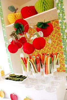 fruit party 3rd Birthday, Birthday Party Themes, Vegetable Decoration, Fruit Party, Farm Stand, Table Set Up, Tutti Frutti, Healthy Fruits, Activities To Do