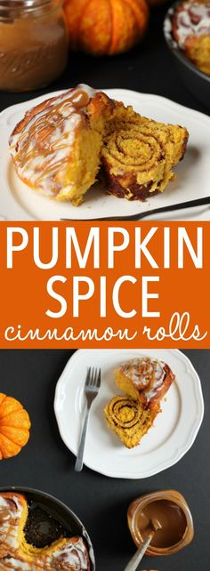 These soft and moist Pumpkin Spice Cinnamon Rolls are the perfect fall treat made with real pumpkin, fragrant spices and an easy cream cheese glaze!