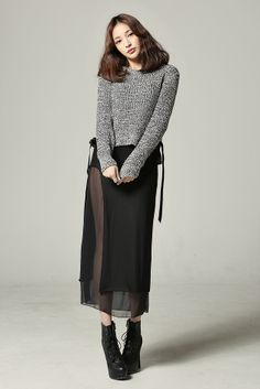 kpopsicle.com #fashion #style #kpop chiffon layered long skirt - Genuine Korean style fashion from Korea