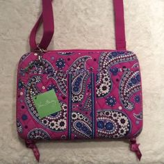 Vera Bradley tablet case Purple and blue tablet case. Adjustable inside means it fits a variety of tablets! Never used, still has tags! Vera Bradley Accessories Tablet Cases