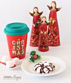 Chocolate Crackle Cookie Recipe - A Spoonful of Sugar Chocolate Crackle Cookies, Melting Chocolate, Delicious Chocolate, Chocolate Flavors, Sugar Spoon, Favorite Holiday, Cookie Recipes, Sweet, Christmas