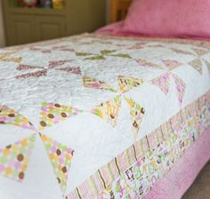 Free Quilt Pattern featuring Sweet Baby Girl by Doodlebug Design Inc for Riley Blake Designs