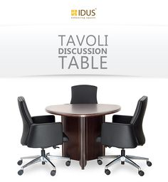 Tavoli is the perfect discussion table for big players of your company. The dark wood will add elegance to any décor. Available at IDUS Furniture Store, New Delhi, India.