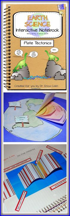 Tectonics: Earth Science Interactive Notebook Introducing Earth Science Interactive Notebooks - Plate Tectonics from Nitty Gritty Science!Introducing Earth Science Interactive Notebooks - Plate Tectonics from Nitty Gritty Science! 4th Grade Science, Middle School Science, Elementary Science, Science Classroom, Teaching Science, Science Education, History Education, Teaching History, Science Resources