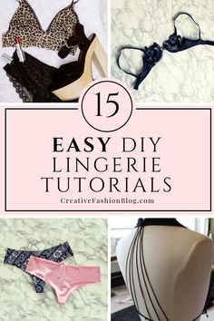 15 DIY Lingerie, Bras, and Panties to Try in 2019 15 easy DIY lingerie tutorials. How to make seductive ideas tutorials include no sew upcycle projects from old clothes, sheer babydoll and casual pant. Lingerie Design, Lingerie Patterns, Sewing Lingerie, Sewing Bras, Lingerie Couture, Fashion Lingerie, Diy Kleidung Upcycling, Fashion Design Inspiration, Fashion Ideas