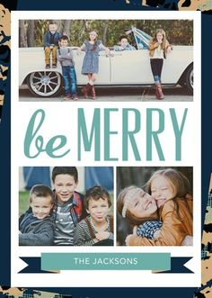 Be merry with this Rebecca Minkoff for Tiny Prints holiday card. #TinyPrintsCheer