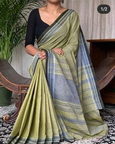 Price - Rs 860 + Shipping extra Maslight Khadi cotton saree With blouse piece Best Quality assure