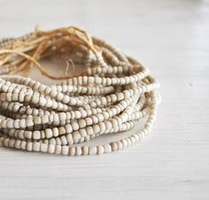 Bone bead bracelet - Wabi Sabi - Fabric inspiration