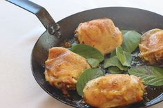 Sage Roasted Chicken Thighs. Seasoned chicken thighs pan roasted with fresh sage. #chicken #sage #roasted #southern