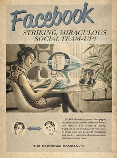 facebook retro poster