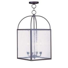Filament Design 4-Light 23 in. Chain Hang Bronze Finish Seeded Glass-CLI-MEN4046-07 at The Home Depot