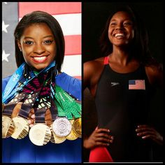 Congratulations Simone Biles and Simone Manuel both ladies take home the GOLD…