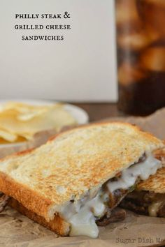 You've had Philly Cheesesteak...but have you had it in grilled cheese? Get the recipe from Sugar Dish Me.   - Delish.com