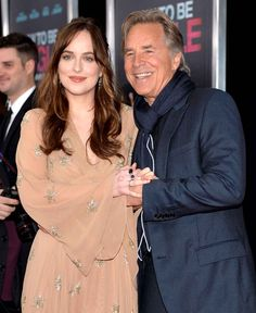 Dakota Johnson and her father, Don Johnson                                                                                                                                                                                 Plus