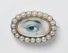 Eye Jewelry, Sea Glass Jewelry, Gold Jewellery, Body Jewelry, Antique Jewelry, Vintage Jewelry, Victorian Jewelry, Lovers Eyes, Mourning Jewelry