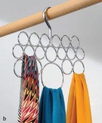 Clever GIFT idea! Whether the scarves are thin and funky or thick and chunky, this is the perfect storage solution. Only $12.95, makes a great gift for teachers or anyone who adores accessories! Tie it up with a festive scarf and you have an instant beautiful gift!