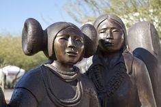 Artwork outside the Heard Museum, Phoenix, AZ