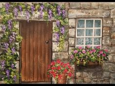 Learn to paint a rustic doorway with a window and flowers in this free acrylic tutorial by Angela Anderson. LIVE full length real time lesson will guide you ...