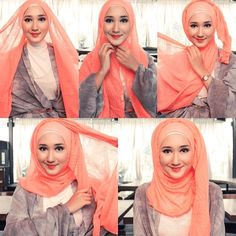 "@dianpelangi's photo: ""Tribute to Dina Tokio! Her signature hijab style tutorial : volumised hijab :) miss youuu @dinatokio :) thank you @fimeladotcom for the pics :)"""