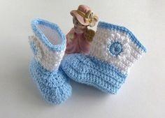 Cowboy Boots  Baby Crochet  Stars or by LaraineRoseHandiWorx