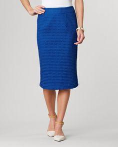 Eyelet pencil skirt - [K24351]