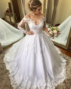 Oops wrong wedding board but still very pretty haha Wedding Dress Trends, Bridal Wedding Dresses, Formal Wedding, Cute Wedding Ideas, Wedding Styles, Glamorous Wedding, Elegant Wedding, Amazing Wedding Dress, Quinceanera Dresses