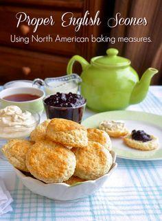 Proper English Scones using American volume cup measurements instead of British ingredient weights.