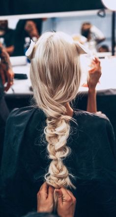 TheyAllHateUs blonde braid, fashion show, behind the scenes