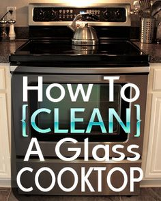 How to clean your glass cooktop using baking soda and water