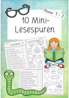 DaZ / DaF Grundschule Unterrichtsmaterialien Mini – reading the traces of class 1 and 2 French Lessons, Spanish Lessons, Montessori Preschool, Preschool Activities, School Fun, Primary School, Mini Reading, German Language Learning, Speech Language Therapy