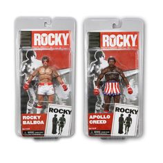 Pack 2 figuras Rocky. 1976 Rocky Balboa vs Apollo Creed, 18 cms. Serie 1. NECA