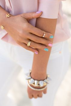 Pastel Nails with @Estee Lauder
