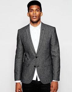 ASOS Slim Blazer In Tweed