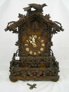 Black Forest Clocks | 262: Antique 19th C. Black Forest Cuckoo Clock - London : Lot 262