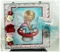 Young Spring Fairy [C1109] - $8.50 : Whimsy Stamps