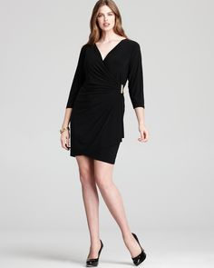 Calvin Klein Plus Dress with Gold Hardware - New Arrivals - Plus Sizes - Plus Sizes - Bloomingdale's