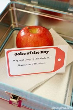 Jokes of the Day - Printable Lunch Box Notes
