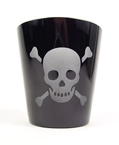Etched Skull & Bones Old-Fashioned Glass