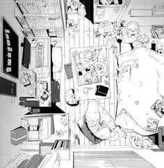 me LOL room gpoy Personal manga mangacaps dirty Carnivorous Princess Yegrinna just like my room gpoy moment right here in life yuu-nii Manga Art, Manga Anime, Anime Art, Anime Boys, Environment Sketch, Background Drawing, Perspective Art, Anime Scenery, Art Studies