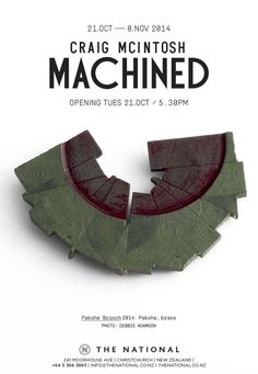 Opening this coming Tuesday, 5.30pm. CRAIG McINTOSH at The National.
